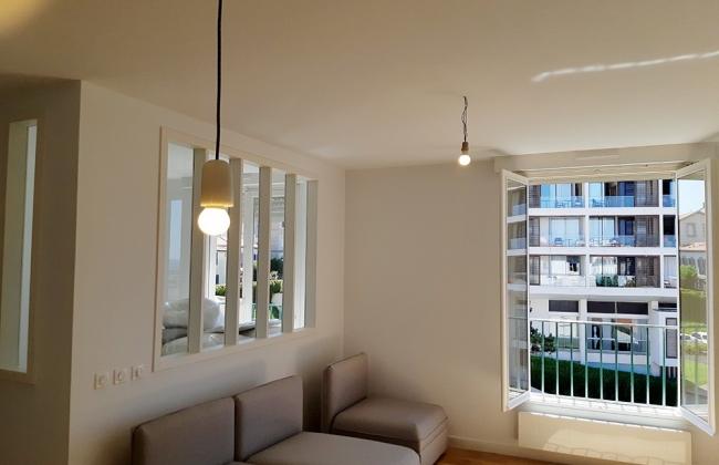 Comprehensive reform in Biarritz. Near  the Palais hotel. Basque Coast.